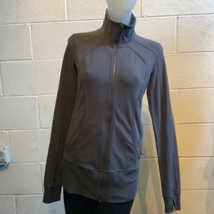 Lululemon gray zip up jacket sz 8 59849